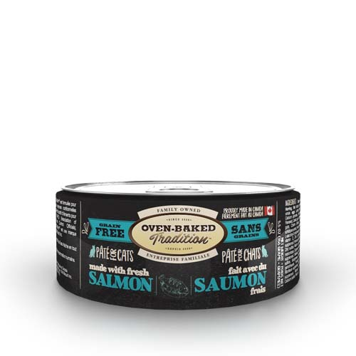 OBT Oven-Baked Tradition Pate SALMON adult cat 156g losos