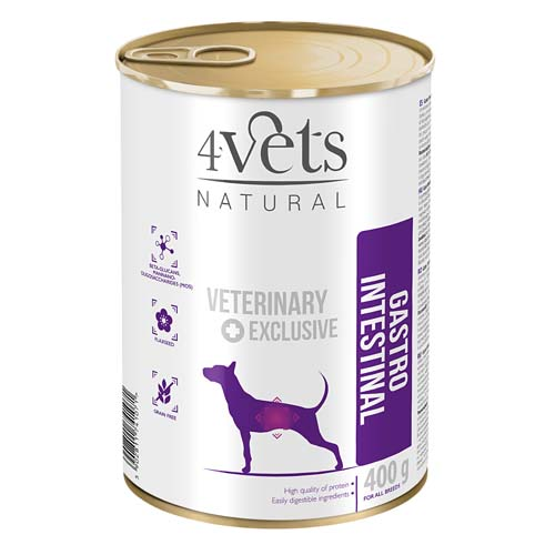 4Vets NATURAL VETERINARY EXCLUSIVE GASTRO INVESTINAL 400g dog