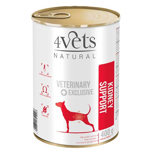 4Vets NATURAL VETERINARY EXCLUSIVE KIDNEY SUPPORT 400g dog