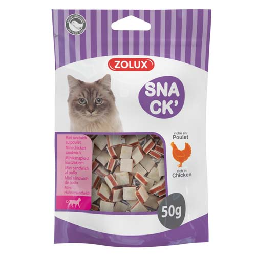 ZOLUX CAT MINI CHICKEN SANDWICH 50G