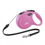 flexi New Classic lanko M 8m do 20kg pink