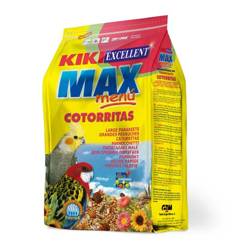 KIKI MAX Menu Cockatiel  500g ZIP korely a agapornisy