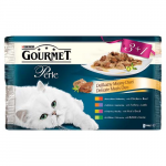 GOURMET PERLE Duo 3+1 Multipack 4x85g Mäsové Duo
