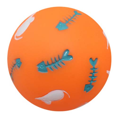 LES FILOUS Hračka pre mačky PVC SNACK BALL FOR CAT Dia. 7,5cm ORANGE