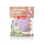 LES FILOUS Soft and green cat litter 5kg levender parfume