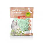 LES FILOUS Soft and green cat litter 5kg green tea perfume