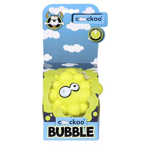 EBI COOCKOO DOG TOY BUBBLE LIME / 10.5x8x9cm