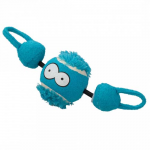 EBI COOCKOO DOG TOY SHOOT 7,8 CM BALL WITH STRING BLUE