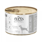 4Vets NATURAL VETERINARY EXCLUSIVE LOW STRESS 185g dog