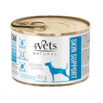 4Vets NATURAL VETERINARY EXCLUSIVE SKIN SUPPORT 185g dog