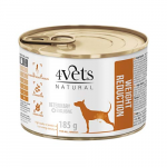 4Vets NATURAL VETERINARY EXCLUSIVE WEIGHT REDUCTION 185g dog