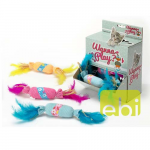EBI CAT TOY WANNA PLAY CANDY ca.12x3cm/CATNIP/RATTLE/DISP./