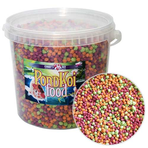 COBBYS PET POND GRANULES COLOUR LARGE 2,5l (0,35kg) vedro