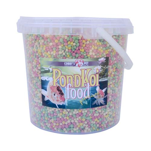 COBBYS PET POND GRANULES COLOUR SMALL  2,5l vedro