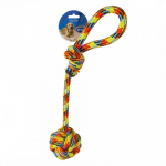 DUVO+ Cotton Rope with Ball and Loop Beach 54cm
