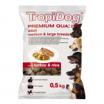 TropiDog Premium Adult Medium & Large 500g morka s ryžou