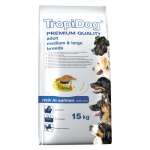 TropiDog Premium Adult Medium & Large 15kg losos