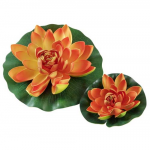 HOBBY Rastlina umelá Water Lily, orange 30cm
